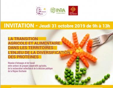 31 octobre 2019 : L'enjeu de la diversification des protéines