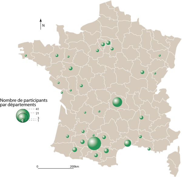 carte origine des participants