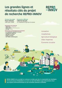 Les grandes lignes et résultats clés du projet REPRO-INNOV
