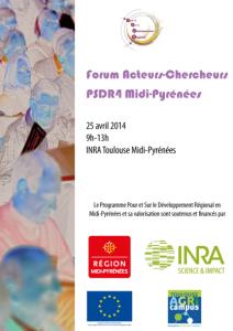Affiche Forum Acteurs-Chercheurs PSDR4 midi-Pyrénées